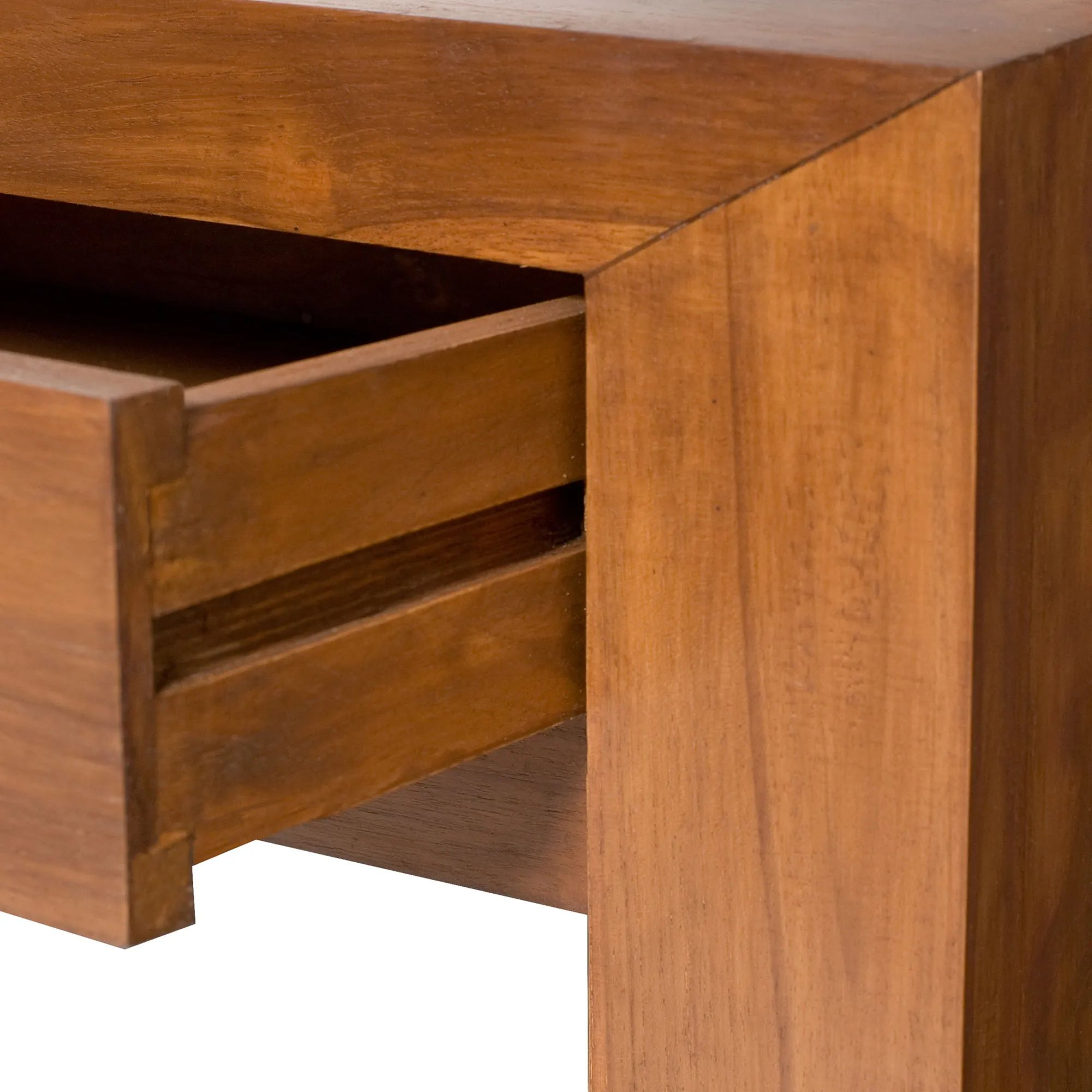 Plain console table 2 drawers detail