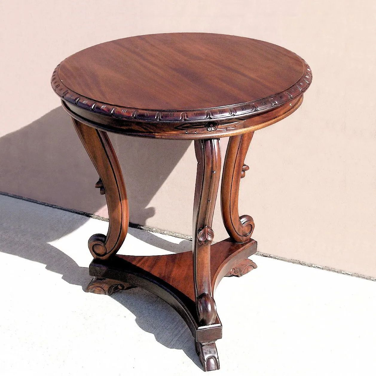 Chippendale tripod accent table