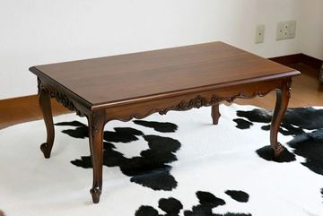 Victorian period coffee table mahogany wood carving