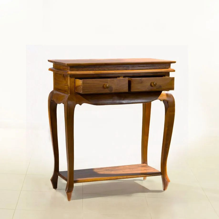 Batavia console table 2 drawers pulled out