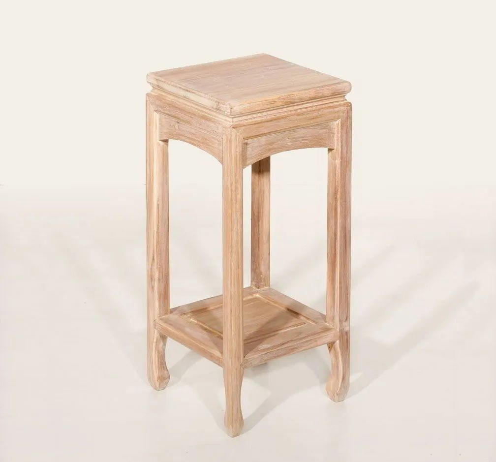 Whitewashed Ming side table