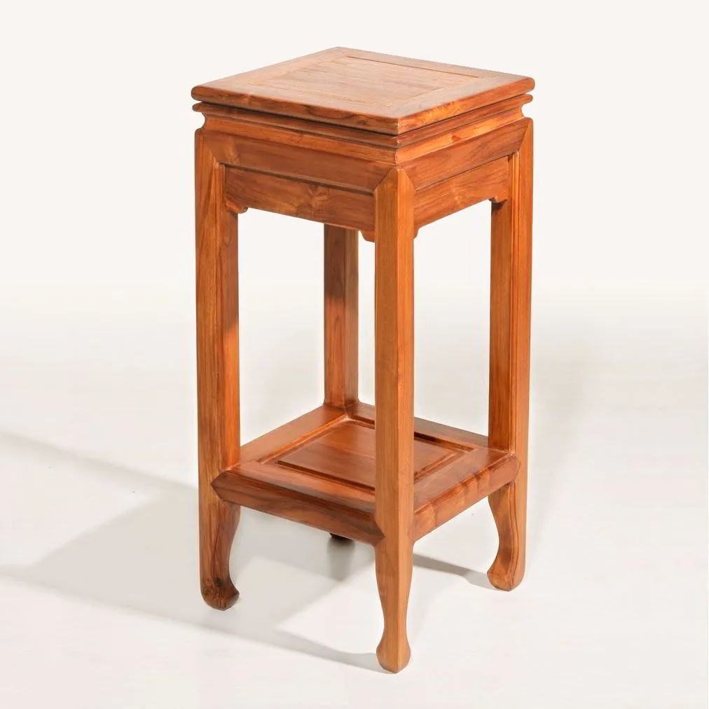 Ming high side table finished with candy yellow wood stain