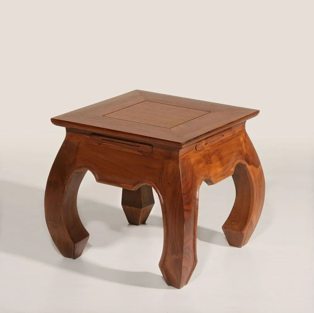 Opium small side table made of teak wood